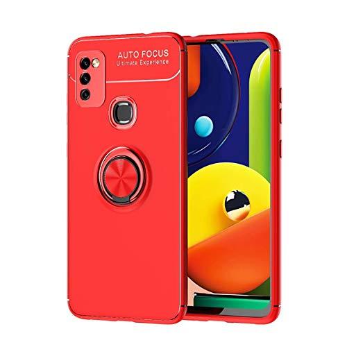TingYR Funda para Xiaomi Mi 11i, TPU Suave, Soporte de Anillo, Lámina de Hierro Magnética, A Prueba de Golpes, Carcasa para Xiaomi Mi 11i.(Rojo)