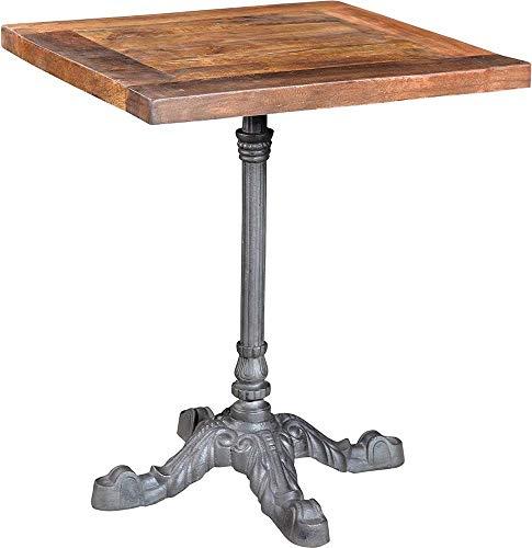 Antic line créations Table bistrot carrée Pieds en Fer forgé