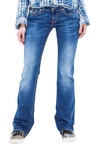 Bitchin Blue Grace Shining - Exklusive Jeans Bootcut mit Swarovski® Crystals Buttons und Nieten (W31/L30)