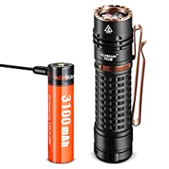 """Light sources utilize SAMSUNG LED Technology for extreme brightness in a compact size Utilize SAMSUNG LED produces 3000 lumens; 6110 candela; 156m beam; Max runs 9 days Compact and Lightweight, it fits conveniently in your pocket 4.13"""" (105 mm) x 1.0..."""