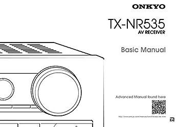 Onkyo Integra TX-NR535 Basic Receiver Owners Instruction Manual Reprint [Plastic Comb]
