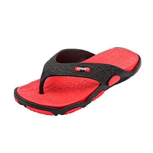 HDUFGJ Unisex-Erwachsene Flip Flops Outdoor Flache Strandschuhe Meer Strand Hausschuhe Sandals for Zehentrenner Sandalen Clogs Pantoletten
