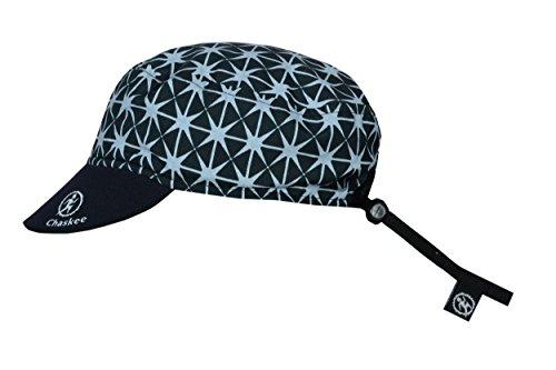 Chaskee Casquette réversible Junior Trip Star avec visière en néoprène et protection UV 80+, couleur : gris.