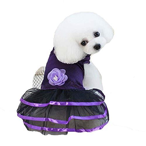 ZWW huisdier rok, hond kleding jurk pluizige jurk rok voor kleine en middelgrote honden