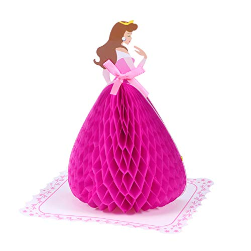 BESPORTBLE Grußkarten Kreative dreidimensionale Geburtstagskarte Druck Nachricht Segen Karte Geschenkkarte (Tanzen Prinzessin Rosa)
