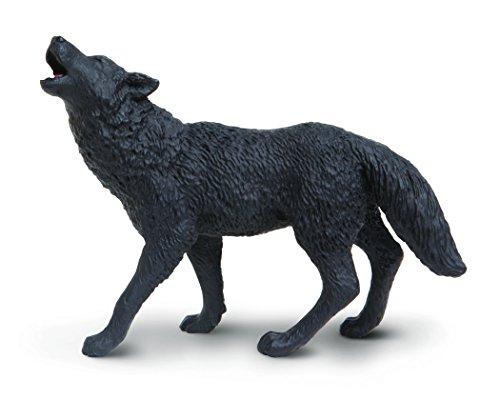 Safari s181129Wild North American Wildlife schwarz Wolf Miniatur