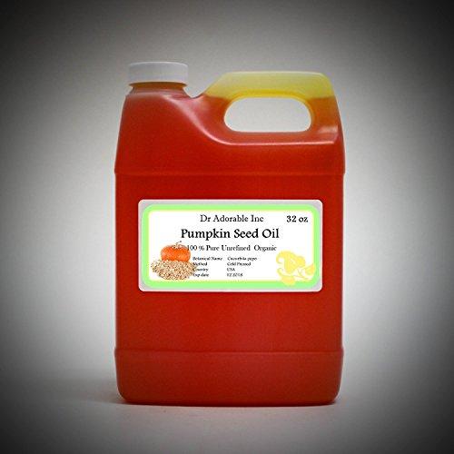 Aceite de semilla de calabaza virgen puro orgánico por Dr.Adorable 32 oz