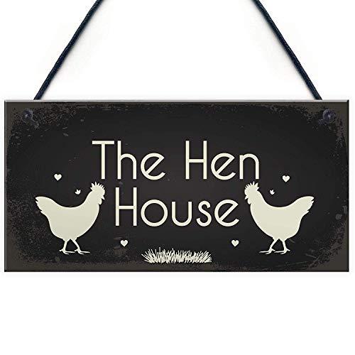Meijiafei Funny Hen Cockerel Rooster Plaque Sign Chicken Cock Hen House Coop Egg Garden Gift 10