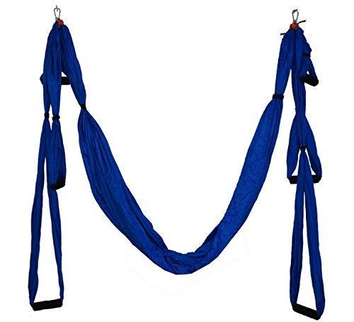 WJY Anti-Gravity Yoga Amaca Tessuto Yoga Volare Swing trazione Aerea Dispositivo Yoga Amaca Set di Macchine da vendere Pilates Body Shaping (Color : Deep Blue)