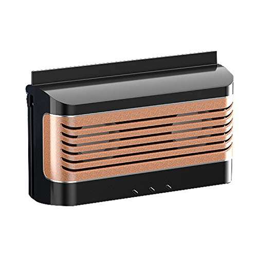 GoolRC Ventilador de escape aire de energía solar para automóvil Ventilador de aire fresco con matanza de mosquitos y función de cargador portátil Mini aire acondicionado Ventilador de aire fresco Uso