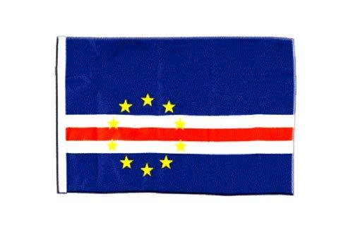 FlagSuperstore© Bootsflagge Cape Verde, 45,7 x 30,5 cm – Baumhäuser, Wohnwagen – Ärmel 45 cm x 30 cm – Land