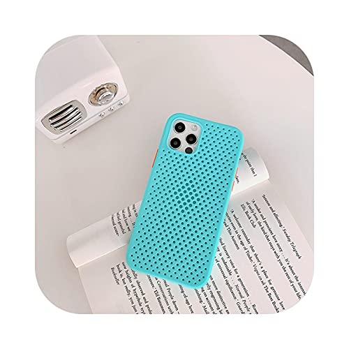 Soft Candy - Carcasa de silicona para iPhone 11 12 mini Pro Max XS X XR Max 6 6S 7 8 Plus SE 2020, color azul cielo para iPhone 12Pro Max