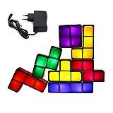 Macabolo 7 Pack Tetris Nachtlicht, 7 Farben Magie Blöcke Induktion Induktion Interlocking LED...