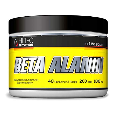 Hi Tec Beta Alanin 200 Caps | Amino Acid | Strength & Endurance | Food Supplement