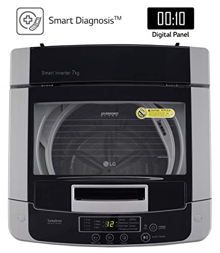 LG 7 kg 5 Star Inverter Fully-Automatic Top Loading Washing Machine (T70SKSF1Z, Middle Free Silver, TurboDrum) 3