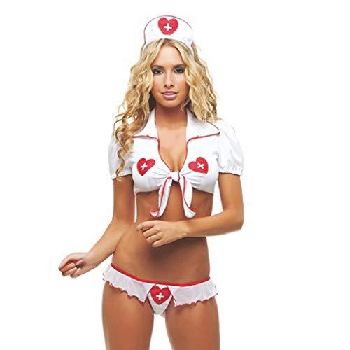 SCHOLIEBEN Dessous Lingerie Set Damen Frauen Obsessive Body Krankenschwester Schulmädchen Roleplay Babydoll Erotik Negligee Sissy Nuttiges Strapse Reizvolle Tranparente