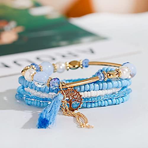 3 pezzi/batch etnici etnici signore in naturale in legno di legno appendiabiti fatti a mano perline in legno perline braccialetto foglia d'acero braccialetto braccialetto Braccialetto Braccialetto
