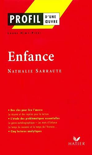 Profil d'une oeuvre : Enfance (1983), Nathalie Sarraute