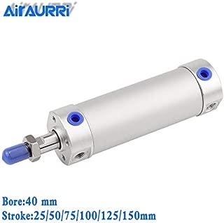 Fevas Round Pneumatic Cylinder 40mm bore 25/50/75/100/125/150mm Stroke CG1BN Rubber Bumper / CG1BA air Cushion Telescopic air Cylinder - (Color: CG1BN40-50)
