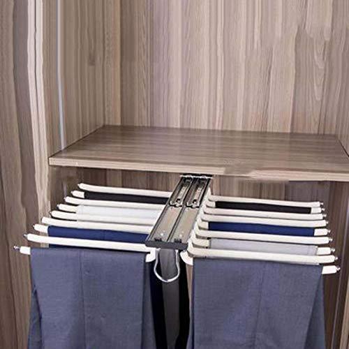 Appendini per Pantaloni Armadio Porta Pantaloni per Armadio Grucce Appendiabiti Salvaspazio Porta Jeans per Armadio Scelta E Facile da Riporre Resistente per Vestiti Pantaloni