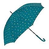 Bisetti - Paraguas Automático Largo | Paraguas Antiviento Ideal para Viajes, Hombre y Mujer, Azul Claro