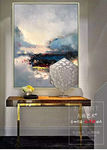 XUNZHAOYH Peinture À l'huile sur Toile,Abstrait Beau Paysage Naturel Art,100% Peint À La Main Peinture À l'huile sur Toile Texture Palette Couteau Couteau Peintures Décor À La Maison Moderne Wall Art