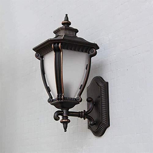 Bxiaoyan Aplique luz celda pared al aire libre lámpara retro aluminio patio puerta exterior lámpara de pared luces pasillo