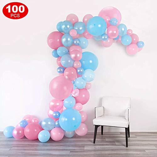 FEYG Blau Weiß Rosa Luftballons Geburtstag Latex Helium Ballons für Geburtstag, Hochzeit, Babyparty, Dekoration, Geschäftstätigkeit