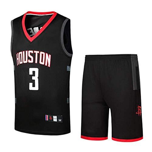 LLSDLS Camisetas de los fanáticos de la NBA Houston Rockets Harden Uniformes de Baloncesto Camisetas for Adolescentes Chaleco Trajes de Entrenamiento Trajes de Competencia Camiseta