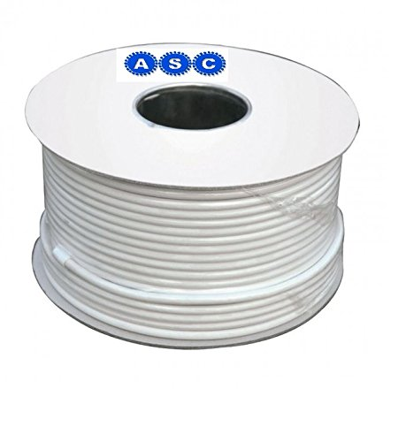 Aerials, Satellites and Cables RG6 100 m Digital Coax Cable for TV - White