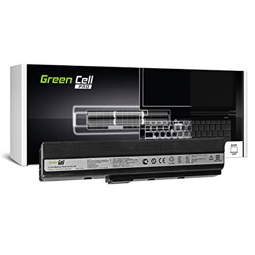 Green Cell Pro Batería para ASUS X52DR-EX107V X52DR-EX118V X52DY X52F X52J X52JB X52JB-SX015V X52JB-SX034V X52JB-SX104V X52JB-SX135V X52JC X52JC-EX325V Portátil (5200mAh 10.8V Negro)