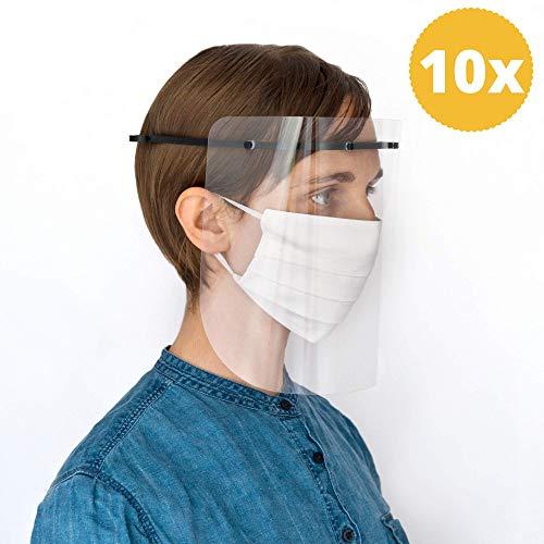 Kit da 10 Visiere Facciali Protettive Comode Leggere 100% Igienizzabili Made in Italy (10)