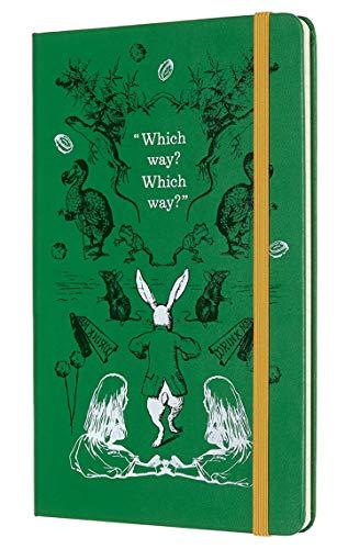 Moleskine Agenda Settimanale 12 Mesi 2020 Alice nel Paese delle Meraviglie Special Edition Verde con Copertina Rigida e Chiusura ad Elastico, Dimensione Large 13 x 21 cm, 144 Pagine