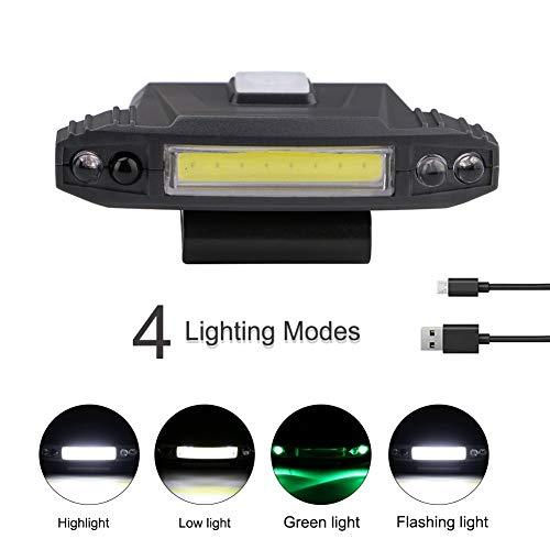 HS-HWH219 LED bewegingssensor koplamp licht 90 graden draaibare clip-on hoed lamp inductie koplamp lantaarn built-in batterij