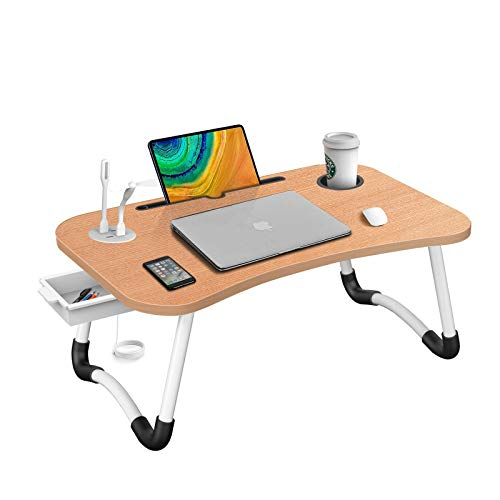 HLHome Laptop Bed Desk,Portable Foldable Laptop Tray Table with...