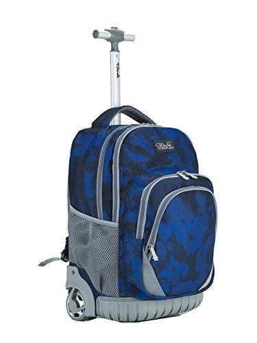 Tilami Kids Rolling Backpack 18 inch Boys and Girls Laptop Backpack, Heart