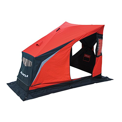 Eskimo 25501 EVO 1it Portable Flip Style Insulated Ice Shelter with Pop Up Hub Sides, 1 Person