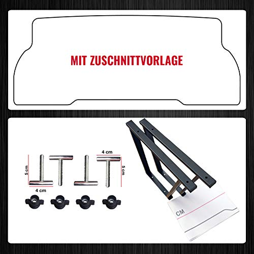 BREMER SITZBEZÜGE Multiflexboard Konsolen kompatibel mit T5/T6 Multivan Pulverbeschichtet: Schwarz...