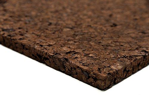 Terraria-achterwand van kurk, 50 x 100 cm, 100% natuurkurk, vrij van schadelijke stoffen, waterbestendig, achterwand, sierkurk achterwand, voor klimmogelijkheden en voor decoratie aan de terrarium muur groß bruin