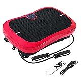 FITTIME Pedana vibrante per fitness, con piastra vibrante ultra piatta, telecomando, cinturini da allenamento, stile alla moda, altoparlante Bluetooth, 200 W, 1-99 livelli, 150 kg (rosso)