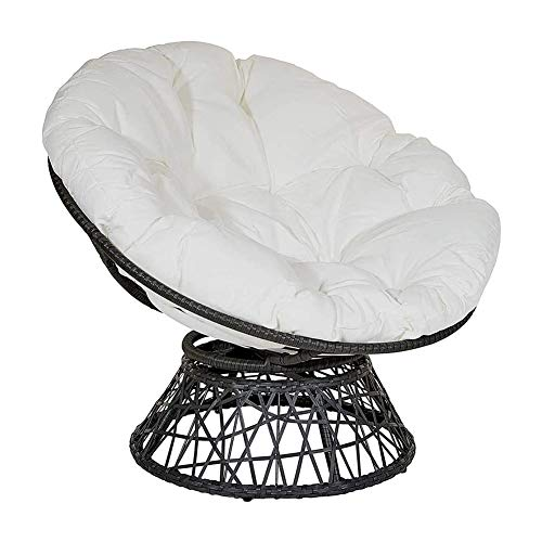 Thicked Papasan Chair Cushion, Outdoor Egg Seat Cushions Comfortable Hanging Chair Cushion Hammocks Swing Pad for Indoor Outdoor (4747in, White)