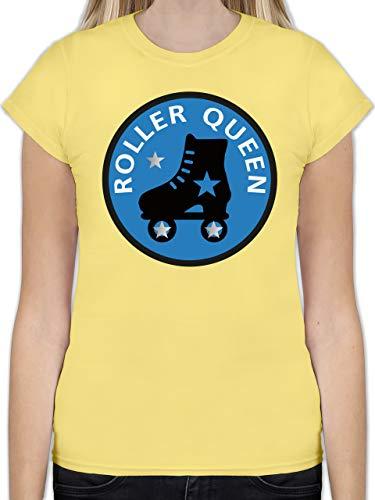 Vintage - Roller Queen Rollschuh - XL - Lemon Gelb - L191 - Tailliertes Tshirt für Damen und Frauen T-Shirt