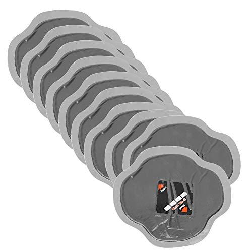 Qiilu 10 Unids 115mm Parches de Neumáticos de Coche Neumático de Caucho Natural Neumático de Reparación de Pinchazos Parche Frío Parches Sin Tubo YB-04