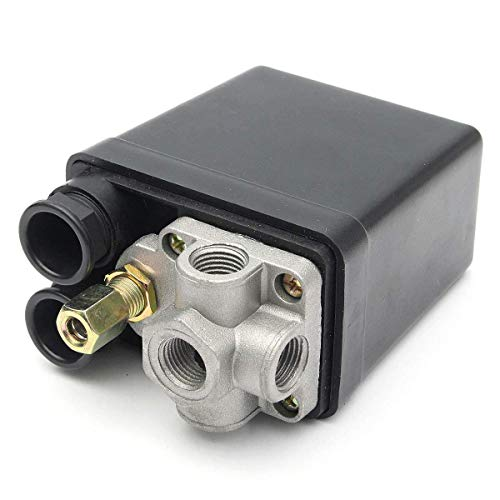 LKK-KK 220V 1 / 4InCH 4 Interruptor de presión con válvula de seguridad Port Puerto Compresor de aire monofásico Bomba eléctrica