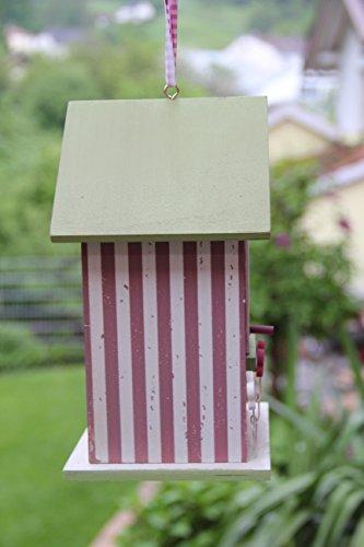 Dekorativer (N14) Nistkasten Herz-Rot Vogelhaus-Vogelhäuschen-sauberste Verarbeitung-Vogelhaus Garten Deko - 2