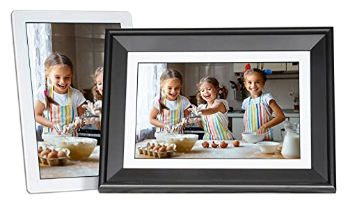 PhotoSpring 10in 16GB WiFi Digital Picture Frame, Touchscreen, Send Photos/Videos by...