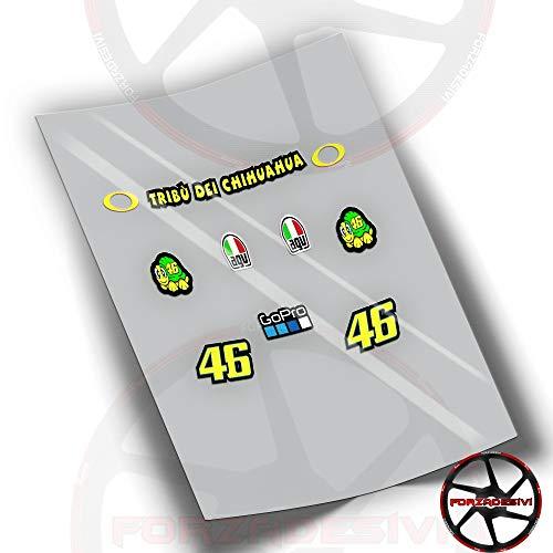 potente para casa Pegatina Visera Casco Rossi 46FA15 Pegatina ADESIVO AUTOCOLLANTS Pegatina Patrocinador Doctor…