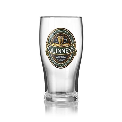 Guinness, bicchiere da pinta, design con etichetta Guinness...