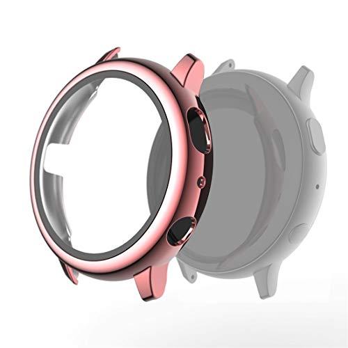 DaiMai Funda protectora para Samsung Galaxy Watch Active 2 de 40 mm con carcasa protectora de vidrio templado WH (color rosa