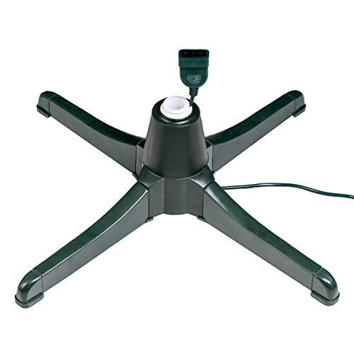 Nataland Base Girevole Elettrica per Albero di Natale con Rotazione di 360°, Dotata di 3 Comandi, di Attacco per Luci Natalizie e di Adattatore di Dimensione (Modello 1, Verde)